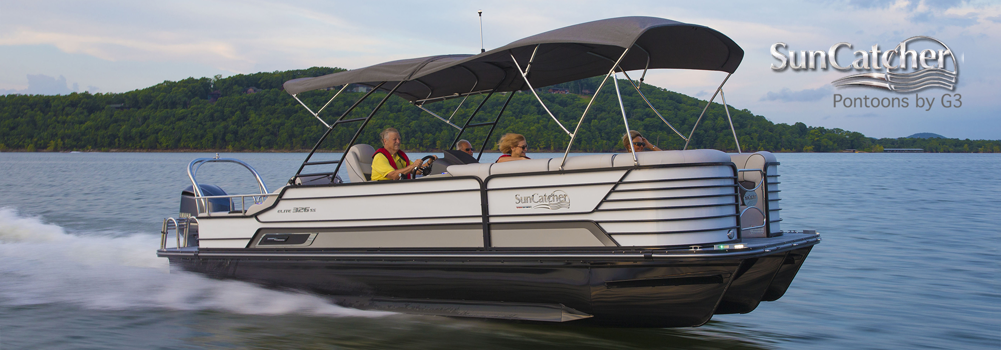 Sun Catcher Pontoons Diamond Elite 326 SS