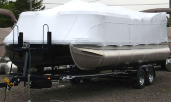 pontoon shrinkwrapped